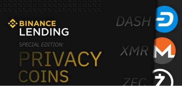Binance anuncia prestamos para criptomonedas enfocadas en privacidad